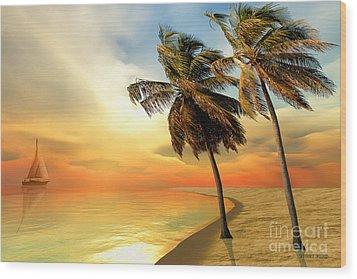 Palm Island Wood Print by Corey Ford