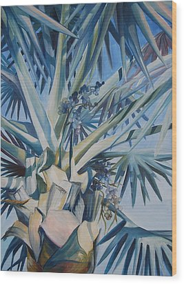 Palm Wood Print by Katherine  Fyall