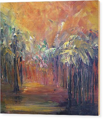 Palm Passage Wood Print by Roberta Rotunda