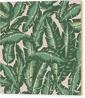 Palm Print Wood Print by Lauren Amelia Hughes