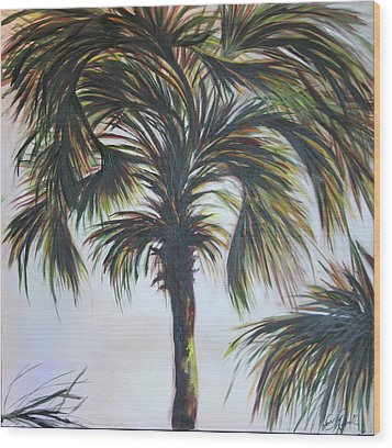 Palm Silhouette Wood Print by Michele Hollister - for Nancy Asbell