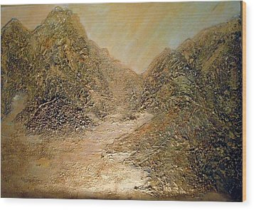 Wood Print featuring the painting Palm Springs Mountains by Sherri  Of Palm Springs