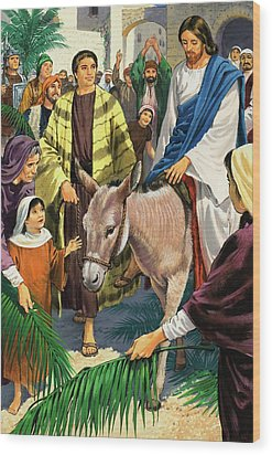 Palm Sunday Wood Print by Clive Uptton