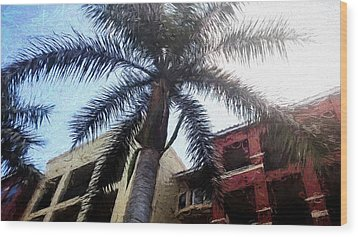 Palm Tree Art Wood Print by Rena Trepanier