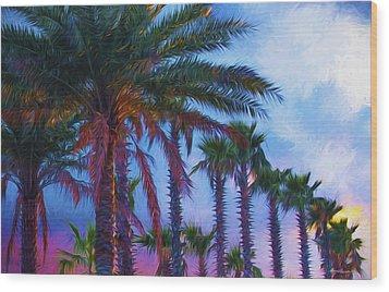 Palm Trees 3 Wood Print