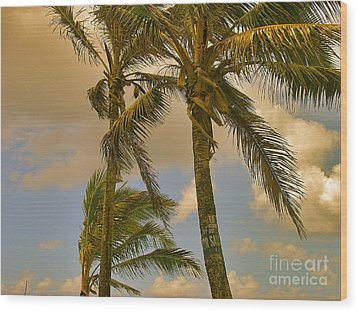 Palm Trees Wood Print by Silvie Kendall