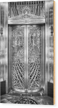 Palmer Hotels Peacock Door Wood Print by Howard Salmon