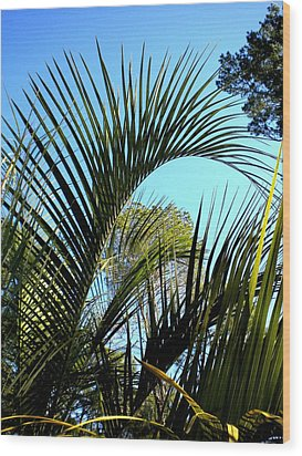 Wood Print featuring the painting Palmetto 2 by Renate Nadi Wesley