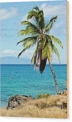 Wood Print featuring the photograph Palms On Hawaiian Beach 12 by Micah May