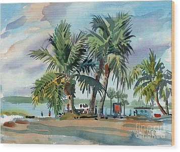 Palms On Sanibel Wood Print by Donald Maier