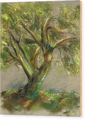 Palo Verde Wood Print by Marilyn Barton