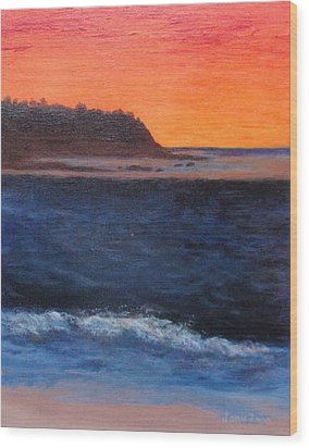 Palos Verdes Sunset Wood Print by Jamie Frier