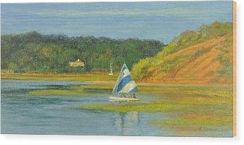 Pamet Harbor Early Evening Wood Print by Phyllis Tarlow