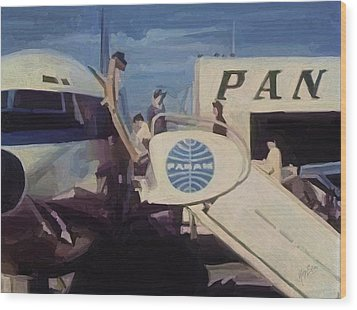Pan American Airways Boeing 707 Wood Print by Nop Briex