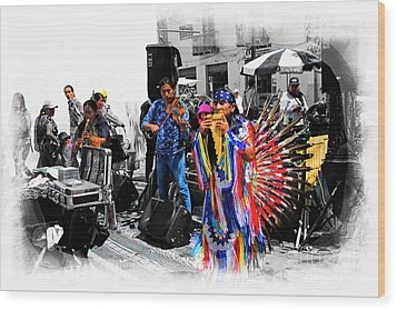 Pan Flutes In Cuenca Wood Print by Al Bourassa