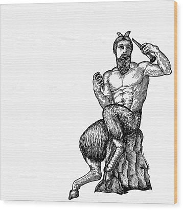 Pan Satyr Wood Print by Karl Addison