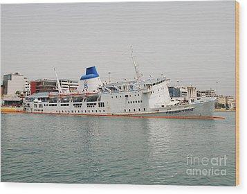 Panagia Tinou Ferry Sinking In Athens Wood Print