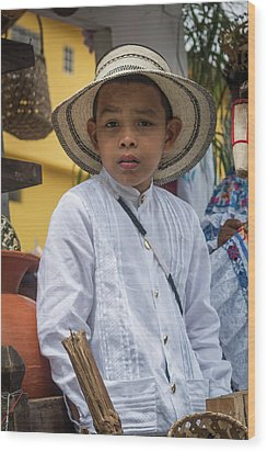 Panamanian Boy On Float In Parade Wood Print