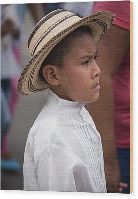 Panamanian Boy Wood Print