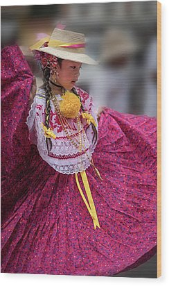 Panamanian Dancer 1 Wood Print