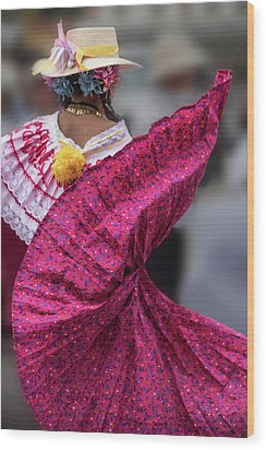Panamanian Dancer 2 Wood Print