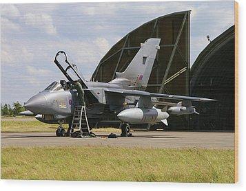 Wood Print featuring the photograph Panavia Tornado Gr4 by Tim Beach