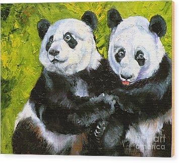 Panda Date Wood Print