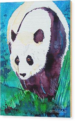 Panda Wood Print by Jo Lynch