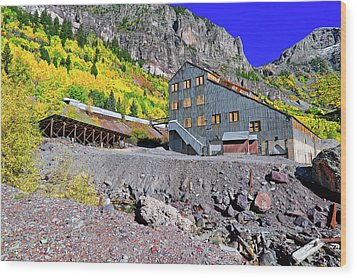 Pandora Mill - Telluride - Colorful Colorado Wood Print by Jason Politte