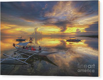 Panglao Port Sunset 10.0 Wood Print by Yhun Suarez