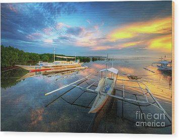 Panglao Port Sunset 9.0 Wood Print by Yhun Suarez