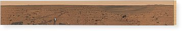 Panoramic View Of Bonneville Crater Wood Print by Stocktrek Images