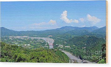 Wood Print featuring the photograph Panoramic View Of Southern Taiwan by Yali Shi