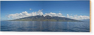 Panoramic West Maui Wood Print by Dave Fleetham - Printscapes
