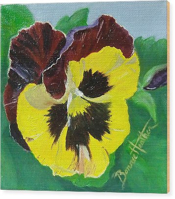Pansy No. Ten Wood Print