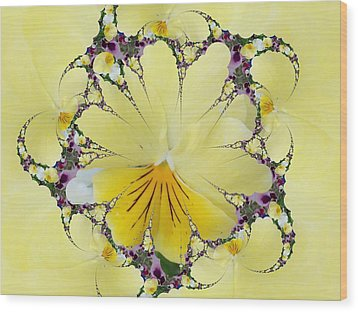 Pansy Swirls Wood Print