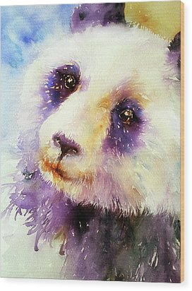 Pansy The Giant Panda Wood Print
