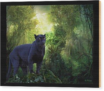 Panther Alert Wood Print