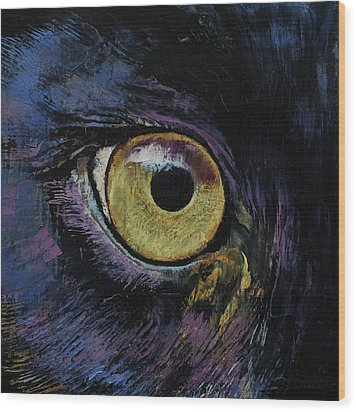 Panther Eye Wood Print by Michael Creese