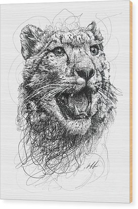Leopard Wood Print by Michael Volpicelli