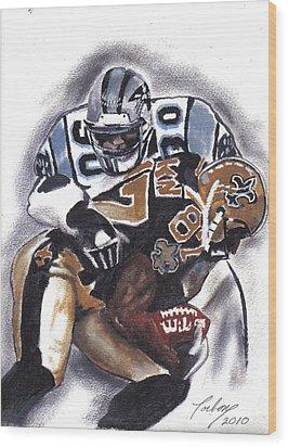 Panthers Vs Saints Wood Print by Torben Gray