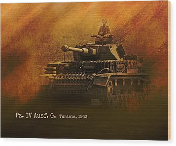 Wood Print featuring the digital art Panzer 4 Ausf G by John Wills