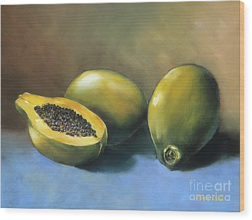 Papaya Wood Print by Han Choi - Printscapes