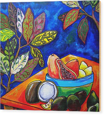 Papaya Morning Wood Print by Patti Schermerhorn