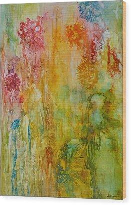 Paper Flowers Wood Print by Rosie Brown