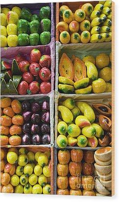 Paper Mache Fruits Wood Print by Gloria & Richard Maschmeyer - Printscapes