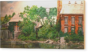 Paper Mill Wood Print by Thomas Akers