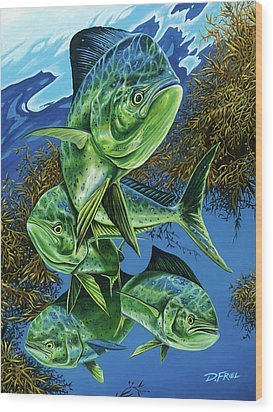 Papito Wood Print by Dennis Friel