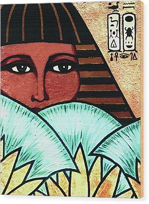 Papyrus Girl Wood Print