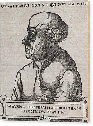 Paracelsus, Swiss Alchemist Wood Print by Middle Temple Library